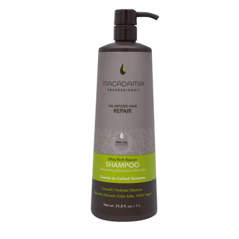 Macadamia Ultra Rich Shampoo for Damaged and Thick Hair 1000ml
