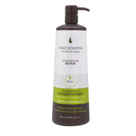Macadamia Weightless Repair Conditioner 1000ml - hydrating conditioner fine hair