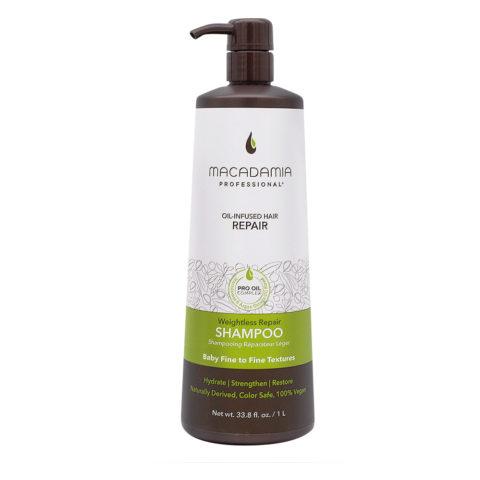 Macadamia Weightless Repair Shampoo For Damaged And Fine Hair 1000ml