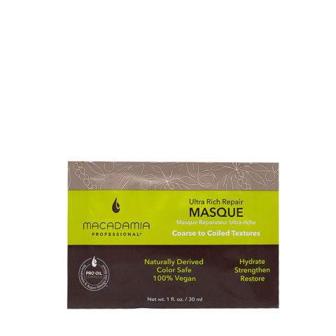 Macadamia Ultra Rich Moisturizing Mask For Damaged And Thick Hair 30ml