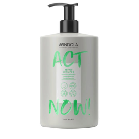 Indola Act Now! Repair Shampoo For Damaged Hair 1000ml