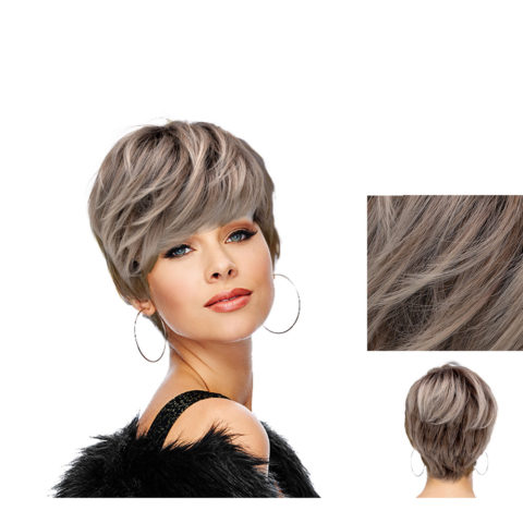 Hairdo Sweet Pixie Light Ash Blonde Wig With Brown Root