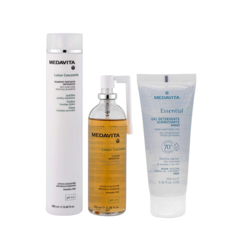 Medavita Scalp Lotion Concentree Anti-Hair Loss Shampoo 250ml and Scalp Lotion 100ml