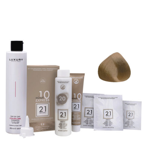 21 Ventuno Professional Hair Dyeing Kit 9.0 Very Light Blonde + Shampoo 250ml