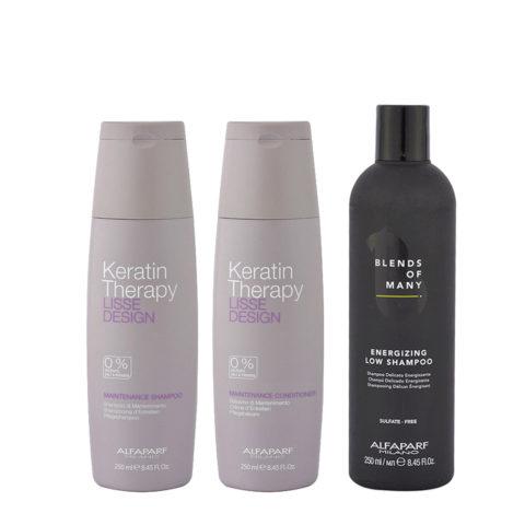 Alfaparf Kit Shampoo 250ml Conditioner 250ml   Free Man Shampoo 250ml