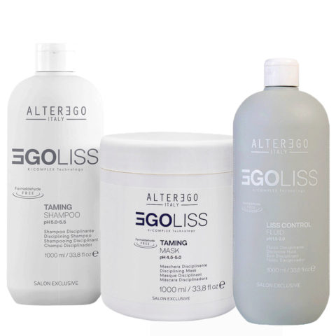 Alterego Egoliss Kit Antifrizz Shampoo 1000ml Mask 1000ml Fluide 1000ml