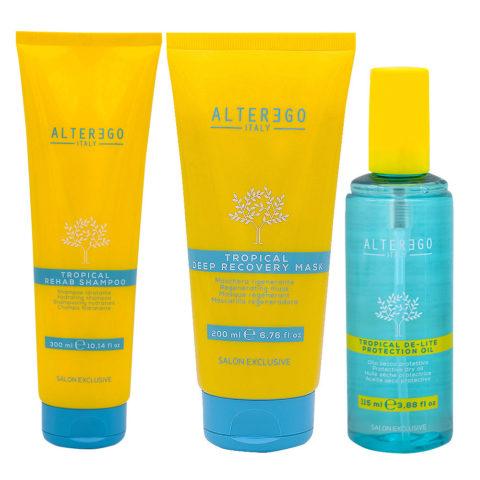 Alterego Solar Line Shampoo 300ml Mask 200ml Sun Oil 115ml