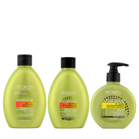 Redken Curvaceous Shampoo 300ml Conditioner 250ml Curly Cream 180ml