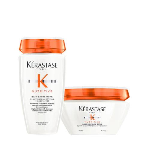 Kerastase Nutritive Kit  Shampoo for Dry Hair 250ml and Thick Hair Mask 200ml