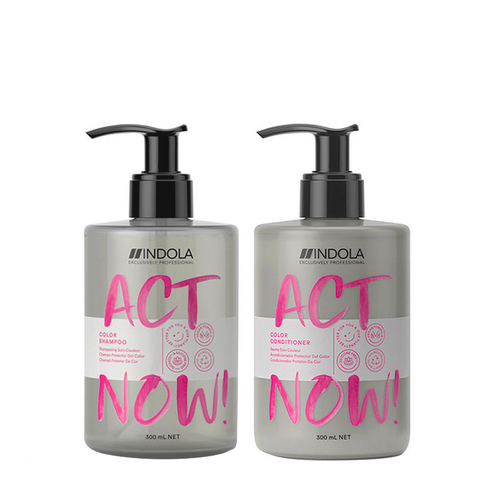 Indola Act Now Shampoo 300ml and Conditioner 300ml Colored Hair