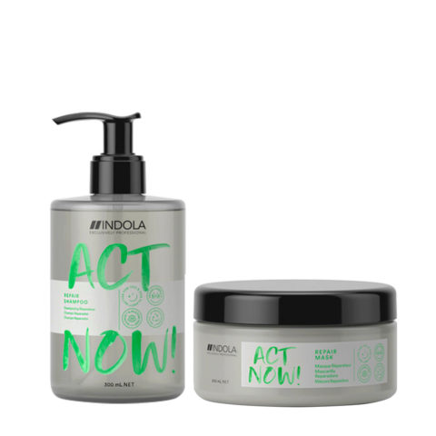 Indola Act Now Damaged Hair Shampo 300ml And Restructuring Mask 200ml