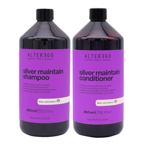 Alterego Silver Maintain Shampoo 950ml And Conditioner 950ml Anti yellow