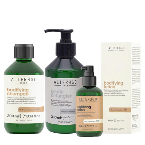 Alterego Set Fine and Thin Hair Shampoo 300ml Conditioner 300ml Thickening Lotion 150ml