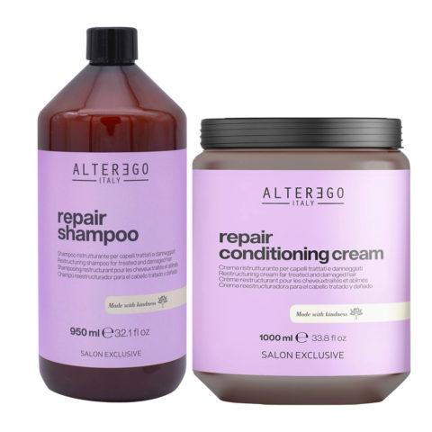 Alterego Repair Set Damaged Hair Shampoo 950ml and Mask 1000ml