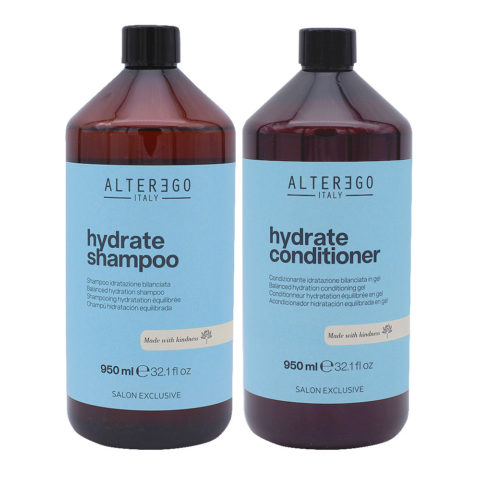 Alterego Hydrate Set Moisturizing Shampoo 950ml and Conditioner 950ml