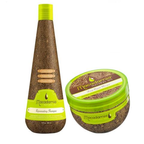 Macadamia Moisturizing Kit for Damaged Hair Shampoo 300ml and Mask 236ml