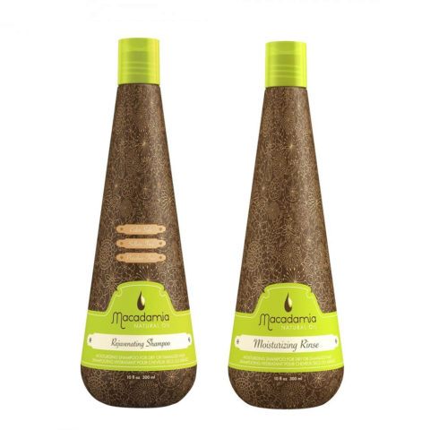 Macadamia Moisturizing Kit for Dry Hair Shampoo 300ml and Conditioner 300ml