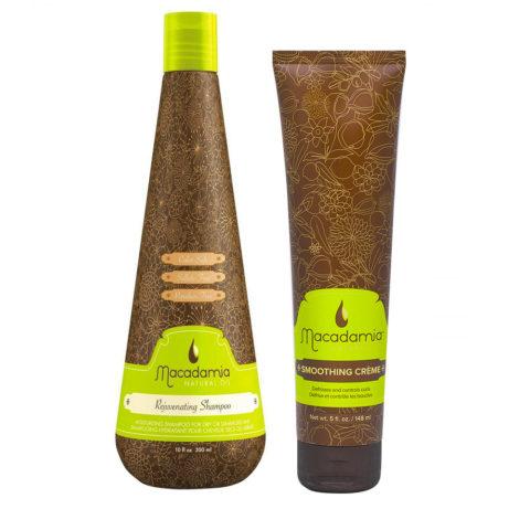 Macadamia Moisturizing Kit for Dry Hair Shampoo 300ml Anti-Frizz Cream 148ml