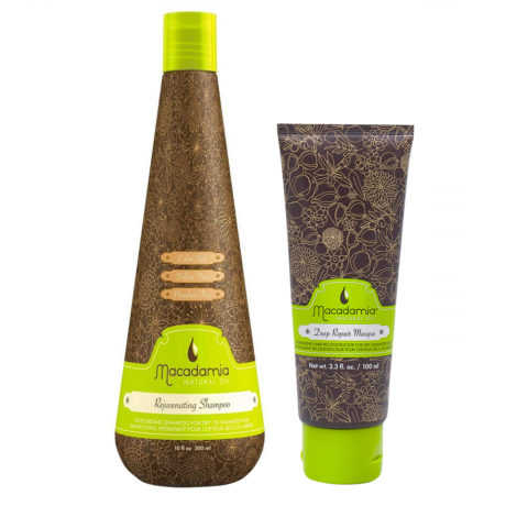 Macadamia Kit Moisturizing for Dry Hair Shampoo 300ml Mask 100ml