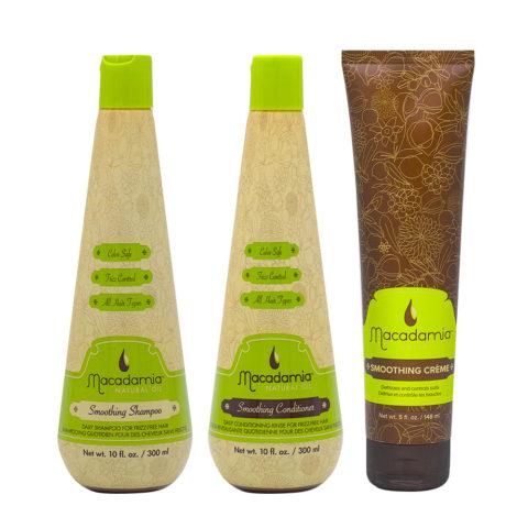 Macadamia Frizzy Hair Kit Shampoo 300ml Conditioner 300ml Cream 148ml