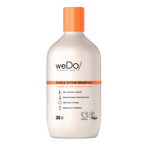 weDo Rich & Repair Sulphate-free shampoo for very damaged frizzy hair 300ml