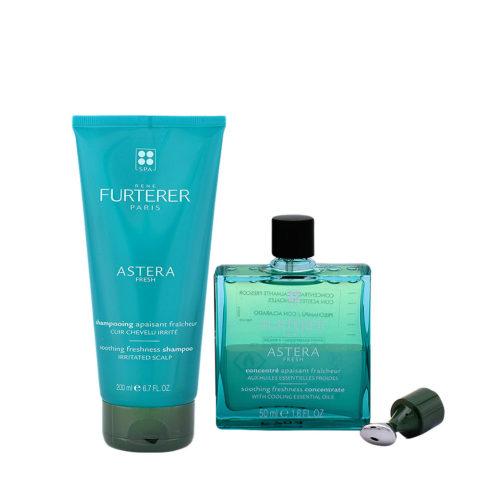 René Furterer Astera Shooting Shampoo 200 ml and Serum for Irritated Scalp 50ml