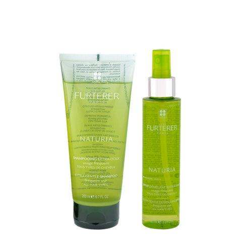 René Furterer Naturia Shampoo 200ml and No Rinse Spray Conditioner 150ml