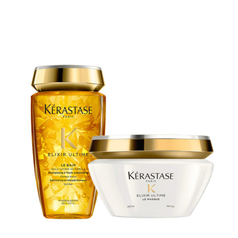 Kerastase Elixir Ultime Hydrating Kit Shampoo 250ml and Mask 200ml