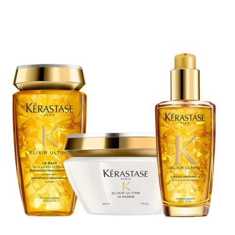 Kerastase Elixir Ultime Hydrating Kit Shampoo 250ml Mask 200ml Oil 100ml