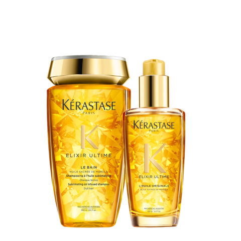 Kerastase Elixir Ultime Hydrating Kit Shampoo 250ml Oil 100ml