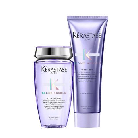 Kerastase Blond absolu Kit Shampoo 250ml Cicaflash Conditioner 250ml