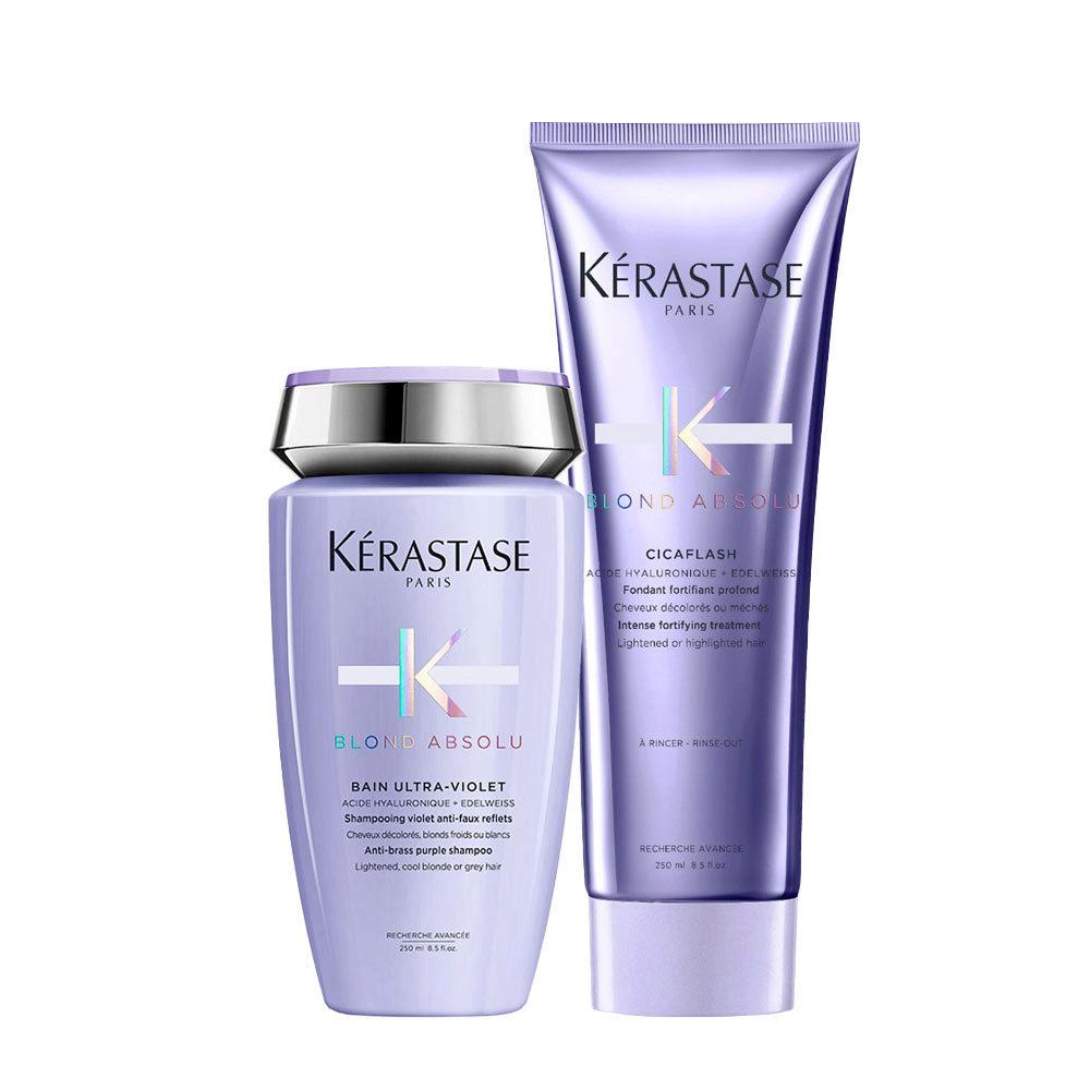 Kerastase Blond absolu Kit Bain ultra violet 250ml Cicaflash Conditioner 250ml
