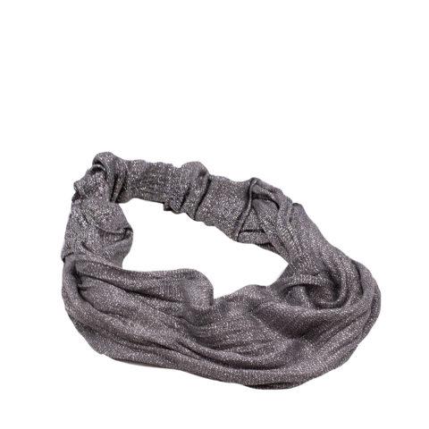 VIAHERMADA Lurex Headband 12cm Gray