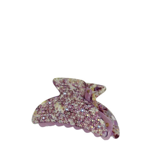 VIAHERMADA Elegant Hair Tongs with Lilac Rhinestones