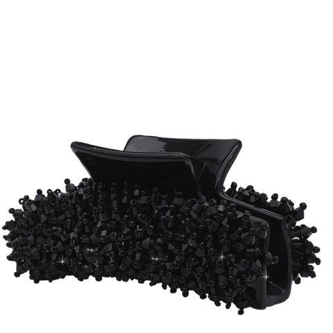 VIAHERMADA Hair Tongs with Black Crystals