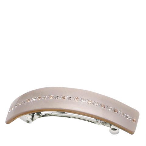 VIAHERMADA Elegant Matic Hair Clip with Beige Strass