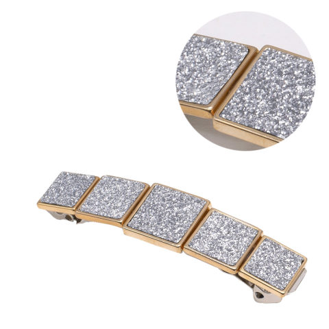 VIAHERMADA Hair Clip with Silver Glitter Buckles