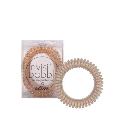 Invisibobble Slim Metallized Bronze Elastic for Fine Hair