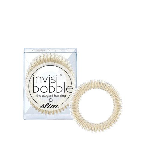 Invisibobble Slim Metallic Platinum Elastic for Fine Hair