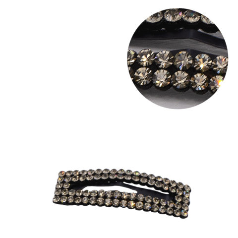 VIAHERMADA Clic Clac Hair Clip with Anthracite Strass