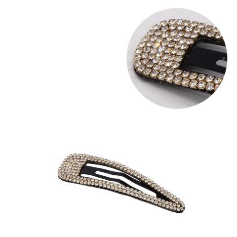 VIAHERMADA Elegant Clic Clac Hair Clip with White Rhinestones