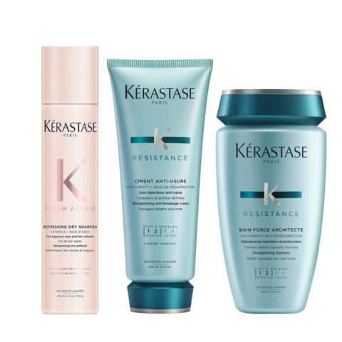 Kerastase Fresh Affair + Force Architecte Set for Damaged Hair