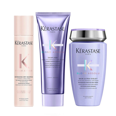 Kerastase Fresh Affair + Blond Absolu Set for Blonde and Bleached Hair