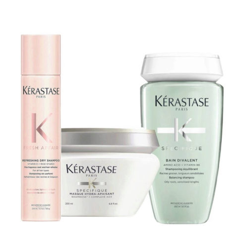 Kerastase Fresh Affair + Divalent Set for weighted skin sensitized lengths