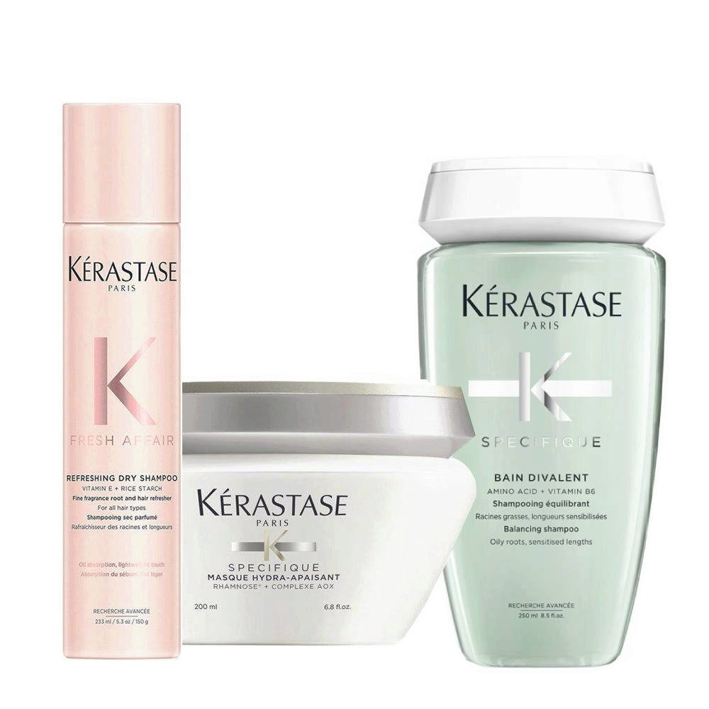 Kerastase Fresh Affair + Divalent Set for weighted skin sensitized lengths