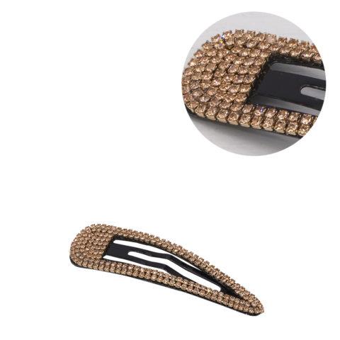 VIAHERMADA Elegant Clic Clac Hair Clip with Amber Strass