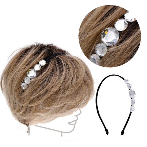 VIAHERMADA Hairband with Transparent Crystals