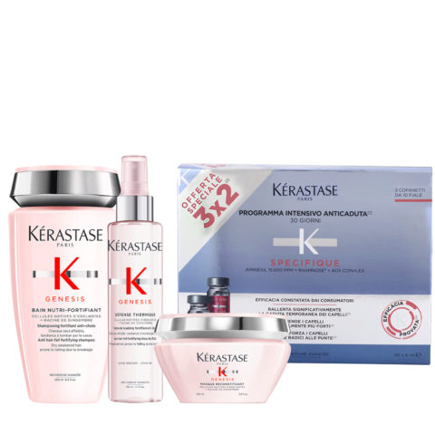 Kerastase Genesis Intensive Nourishment Ritual And Protection For Dry/Thick Hair + Kerastase Specifique Cure anti chute