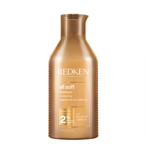 Redken All Soft Shampoo 300ml - cleansing shampoo for dry hair