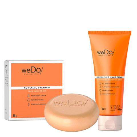 weDo No Plastic Solid shampoo 80gr + weDo Nourishing Night Cream 90ml